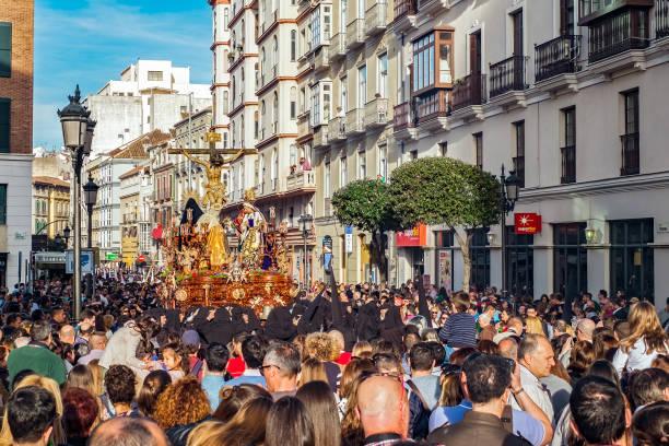 katolsk religiös procession i den heliga veckan - easter procession spain bildbanksfoton och bilder
