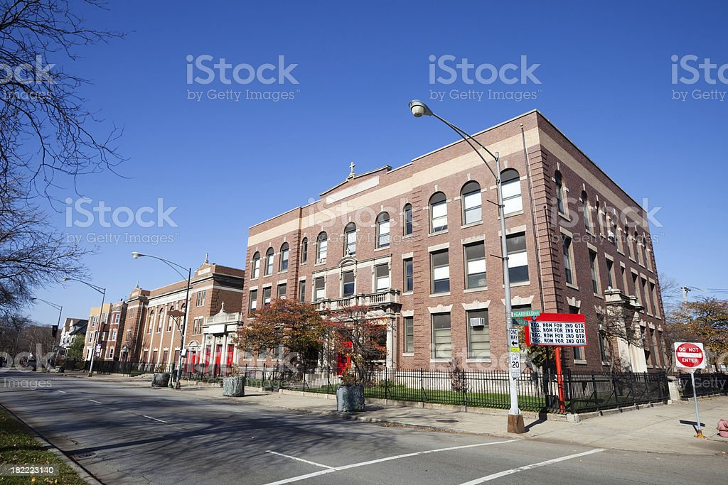Catholic School  in Chicago royalty-free stock photo