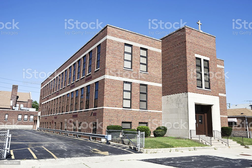 Catholic School in Clearing, Chicago royalty-free stock photo