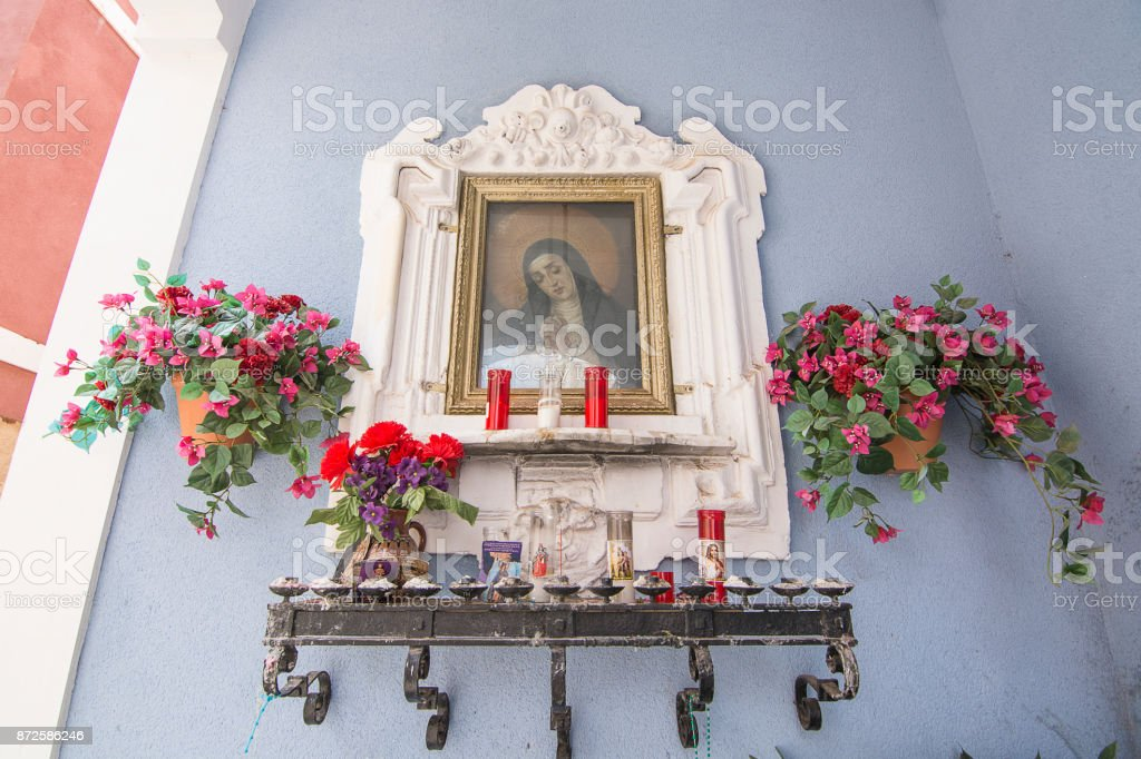 Catholic Shrine Murcia Spain stock photo