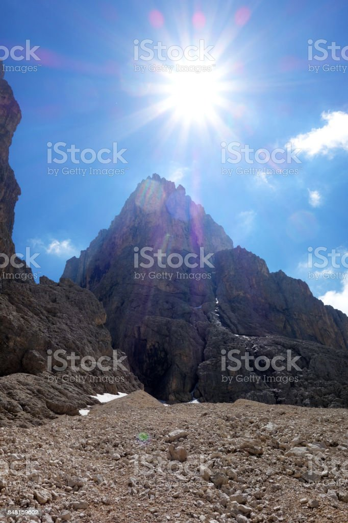 Catinaccio d'Antermoia summit stock photo
