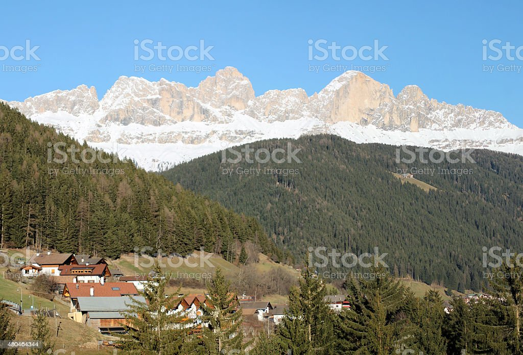Catinaccio mountain stock photo