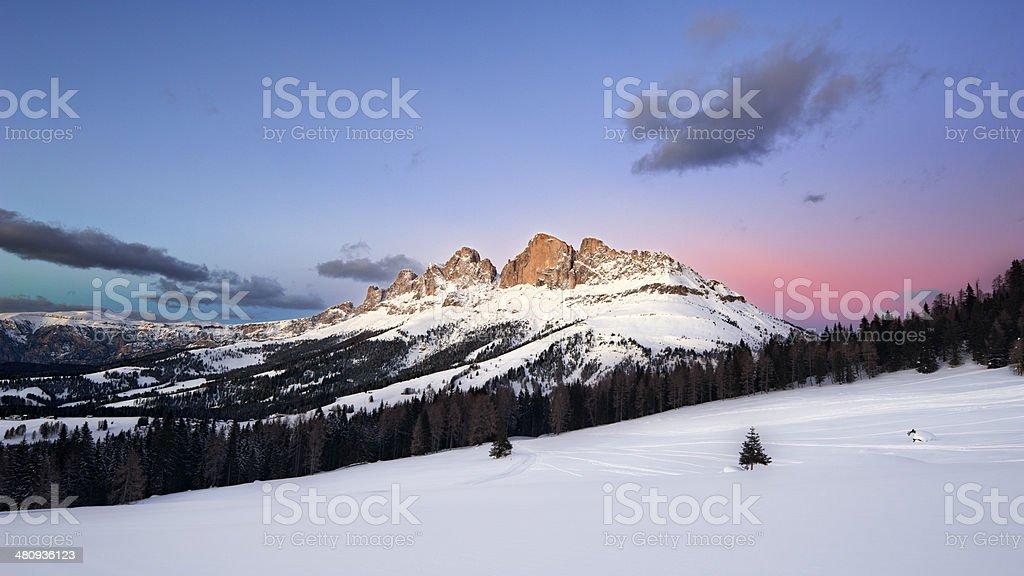 Catinaccio - Rosengarten, Dolomites, Italy stock photo