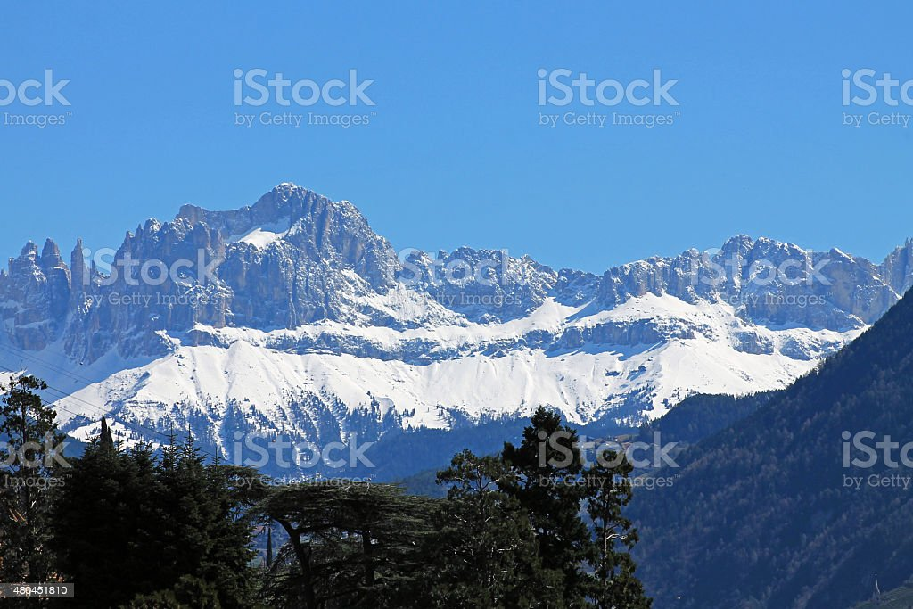 Catinaccio - Rosengarten stock photo