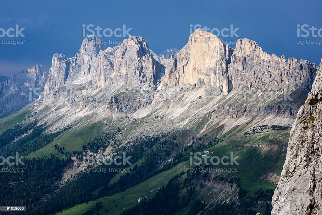 Catinaccio, Rosengarten stock photo