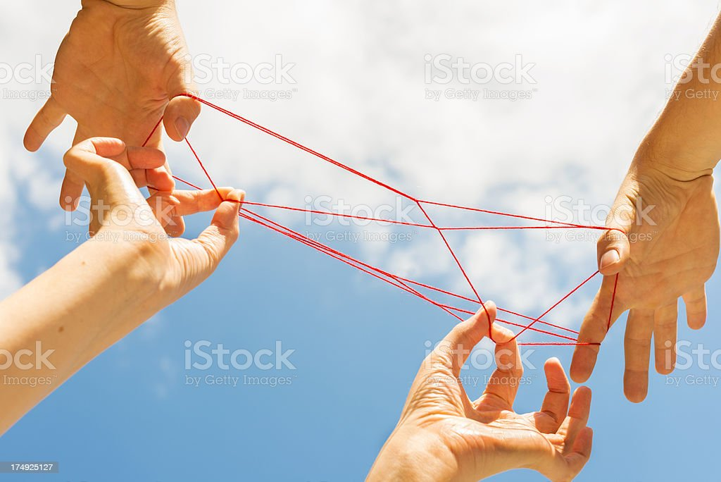 Cats cradle royalty-free stock photo