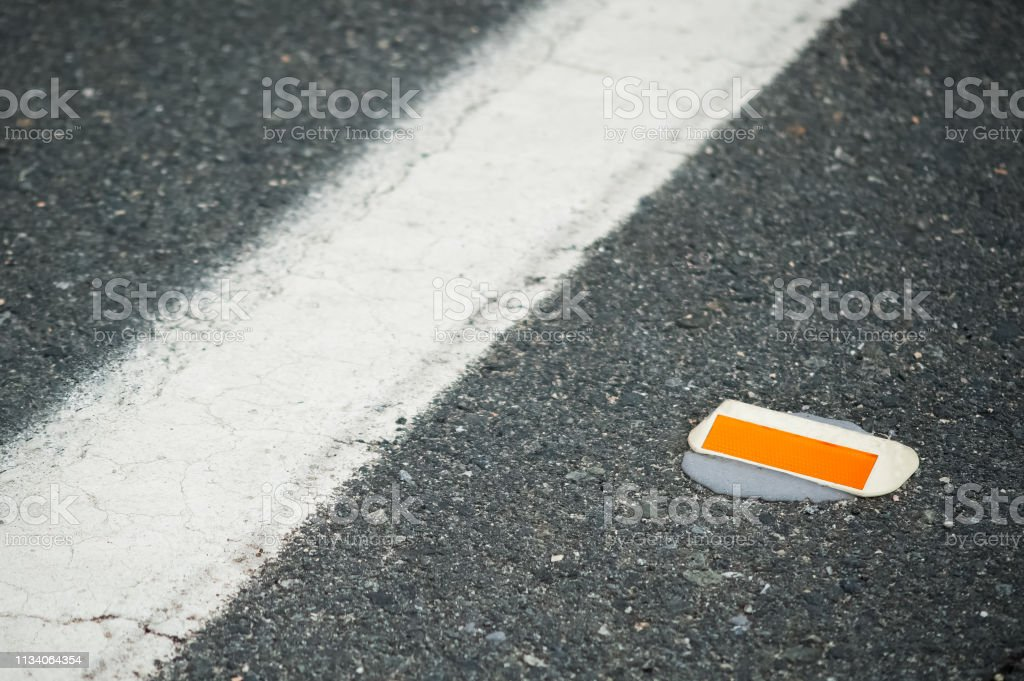 Cats Eye Road Marking Closeup Stock Photo Download Image Now Istock