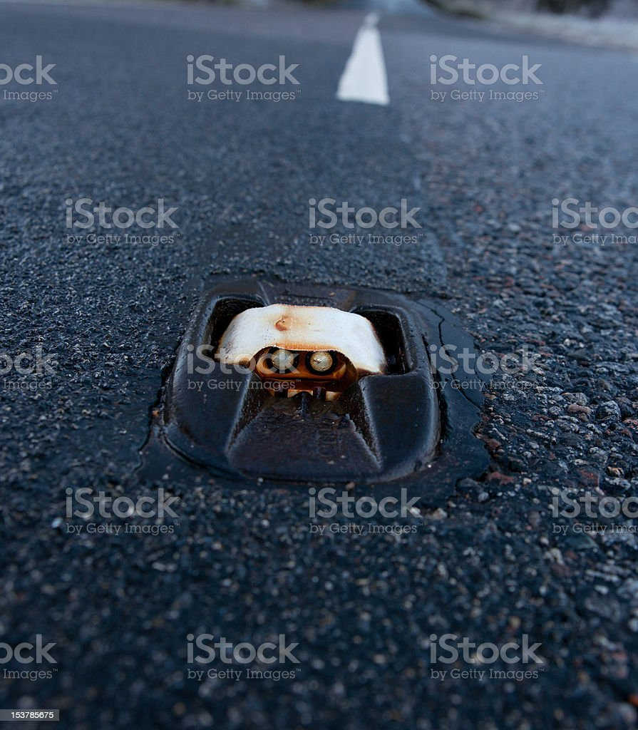 Cats Eye Road Stud Stock Photo Download Image Now Istock