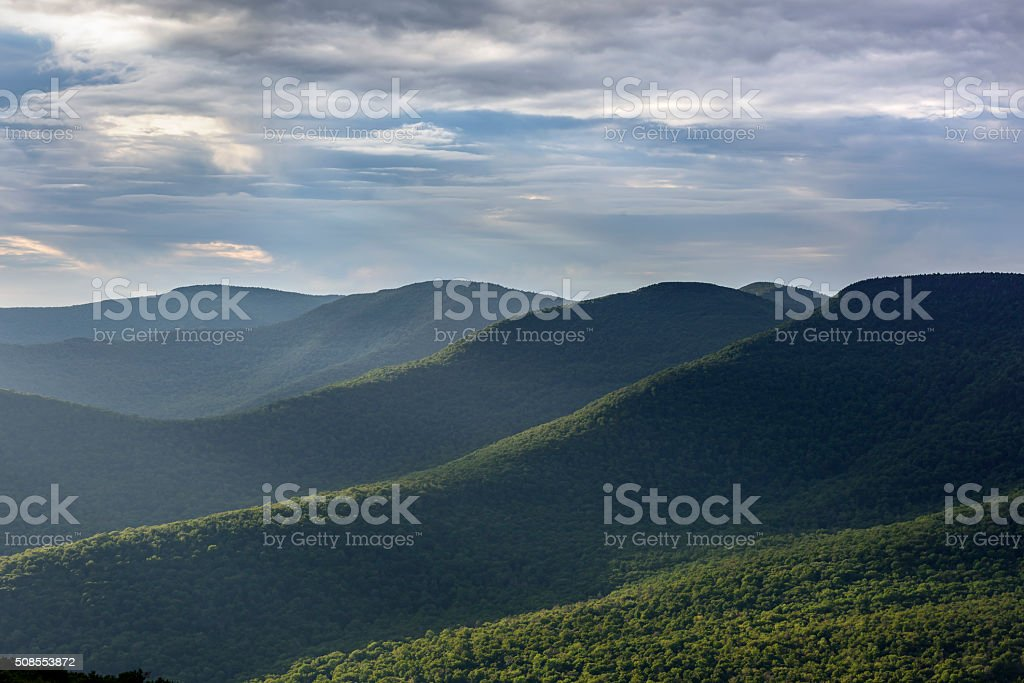 Catskill Mountains in Summer stock photo