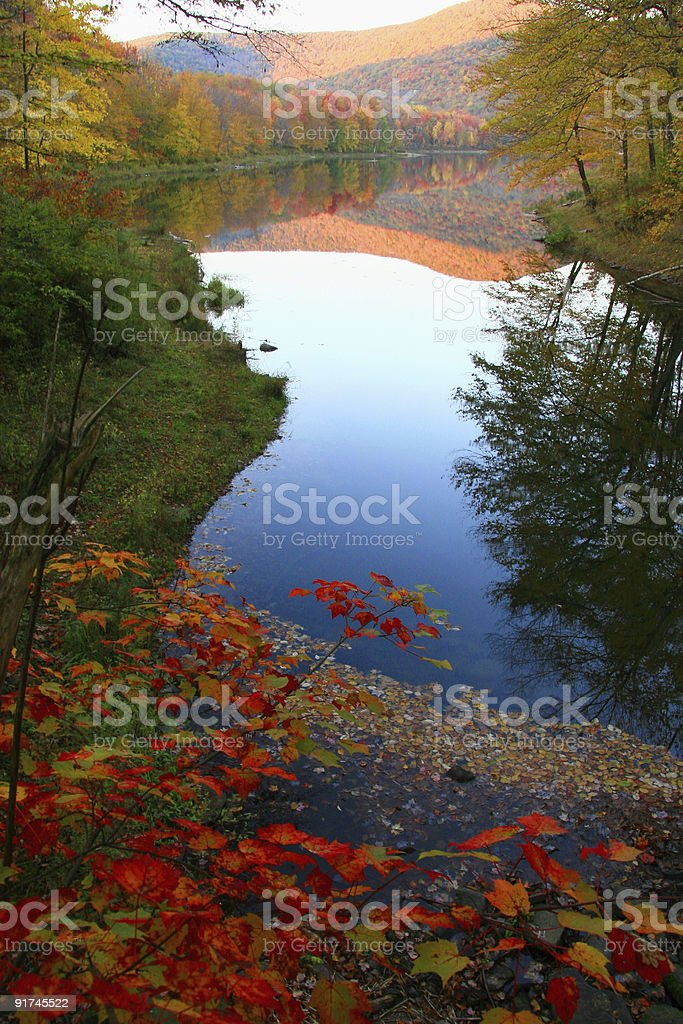 Catskills Autumn Paradise stock photo