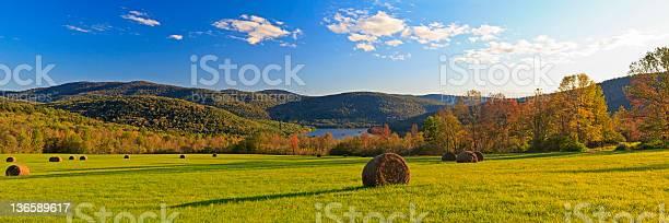 Catskills Fall Panorama Stock Photo - Download Image Now