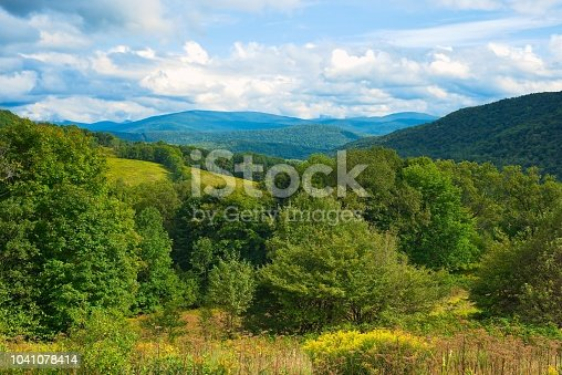 Vista of the Catskills from a scenic lookout near Andes, New York