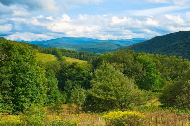 Catskills mountain vista stock photo
