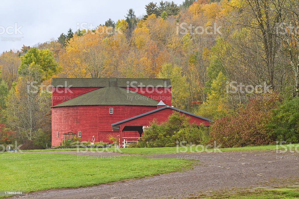 Catskills Round Barn stock photo