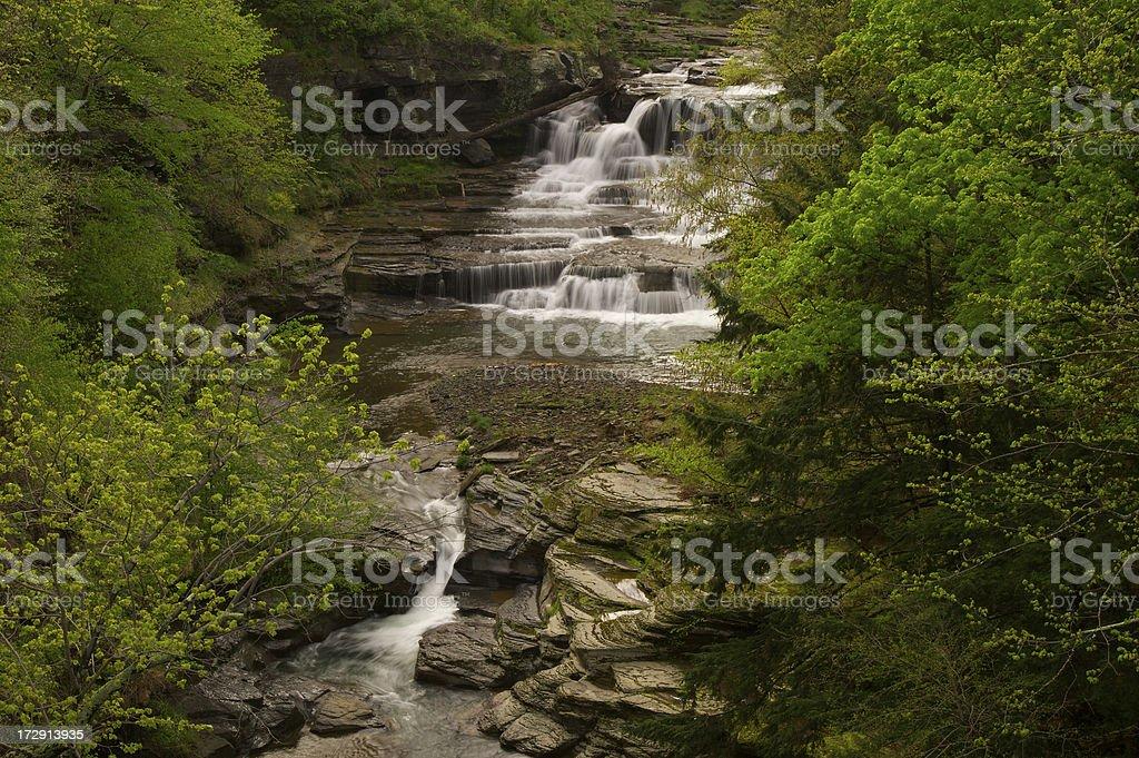 Catskills Waterfalls stock photo