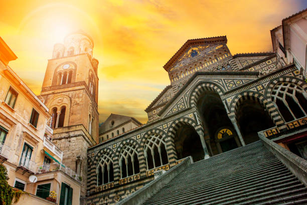 cattedrale of Sant'Andrea ,duomo of amalfi important traveling destination in mediterranean coast line south italy – Foto