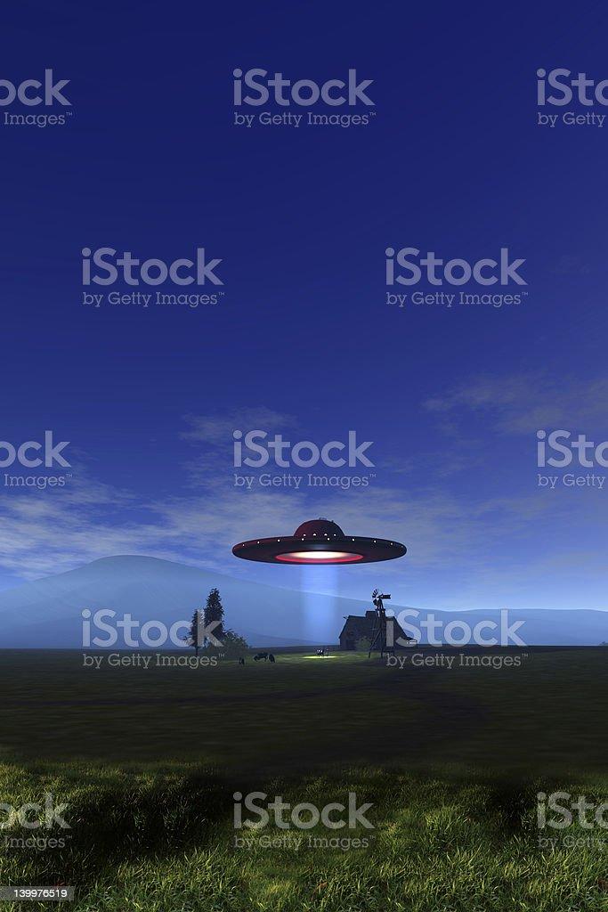 UFO Cattle Mutilations V5 royalty-free stock photo