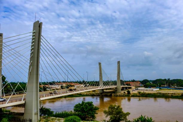 Catumbela Bridge Lobito stock photo