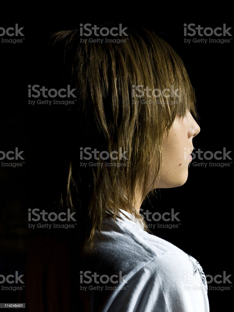 Caucasian Child from behind royalty-free stock photo