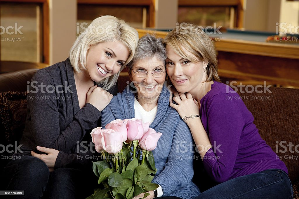 Caucasian Family Portrait stock photo
