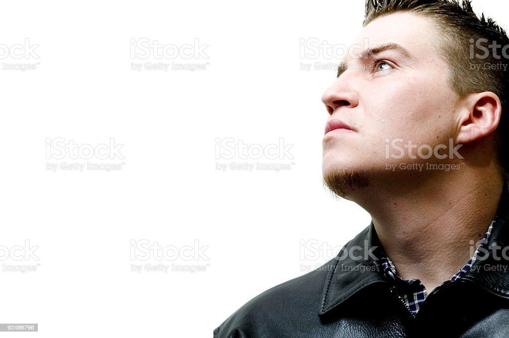 Caucasian Male - Leather Jacket 2 royalty-free stock photo