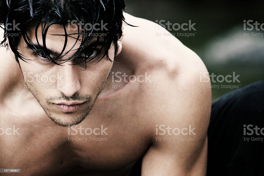 Caucasian Man Horizontal Portrait stock photo