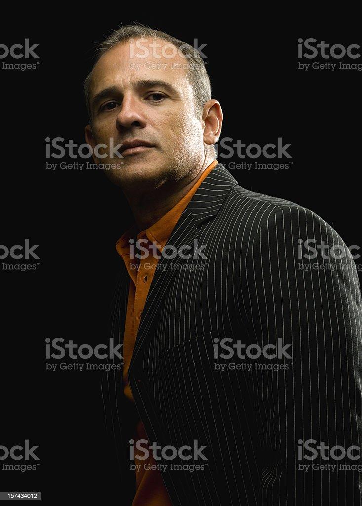 caucasian mature male model royalty-free stock photo