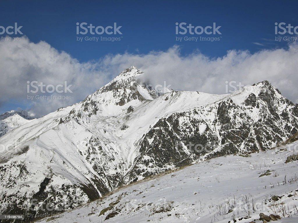 Caucasian mountains royalty-free stock photo