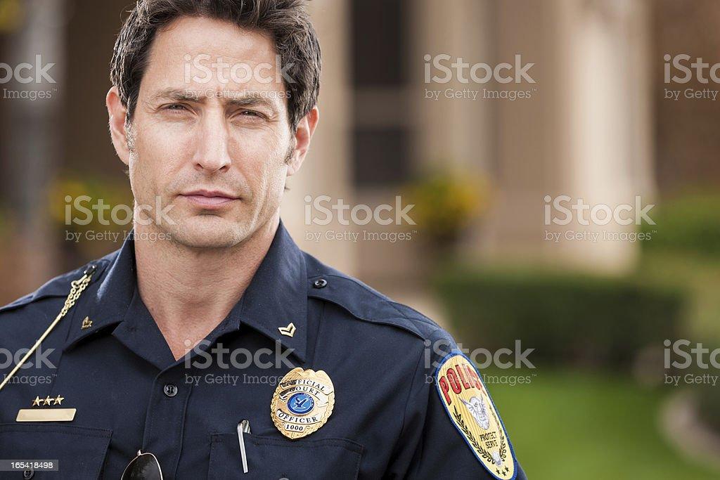 Caucasian Police Officer Portrait stock photo