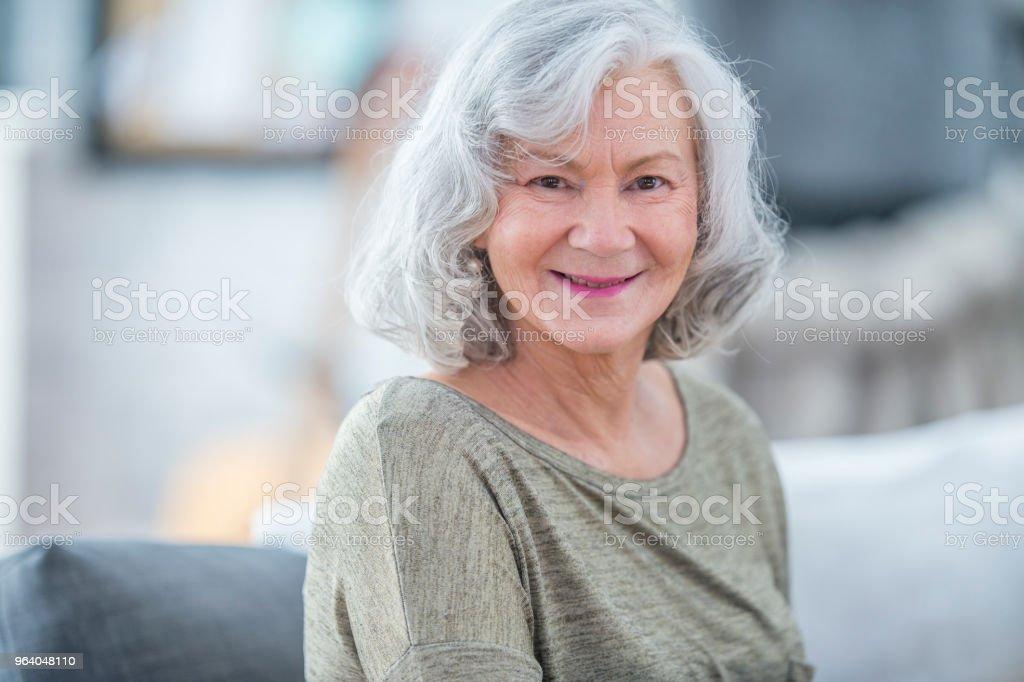 Grandmother Posing Indoors - Royalty-free 70-79 Years Stock Photo