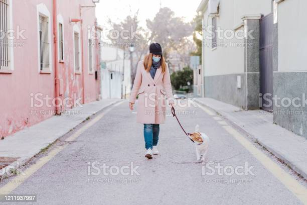 Caucasian woman in the street wearing protective mask and walking picture id1211937997?b=1&k=6&m=1211937997&s=612x612&h=kl9cuvxc8ve6rci5fcsozyjzrh 2os2ssha5rjsudja=