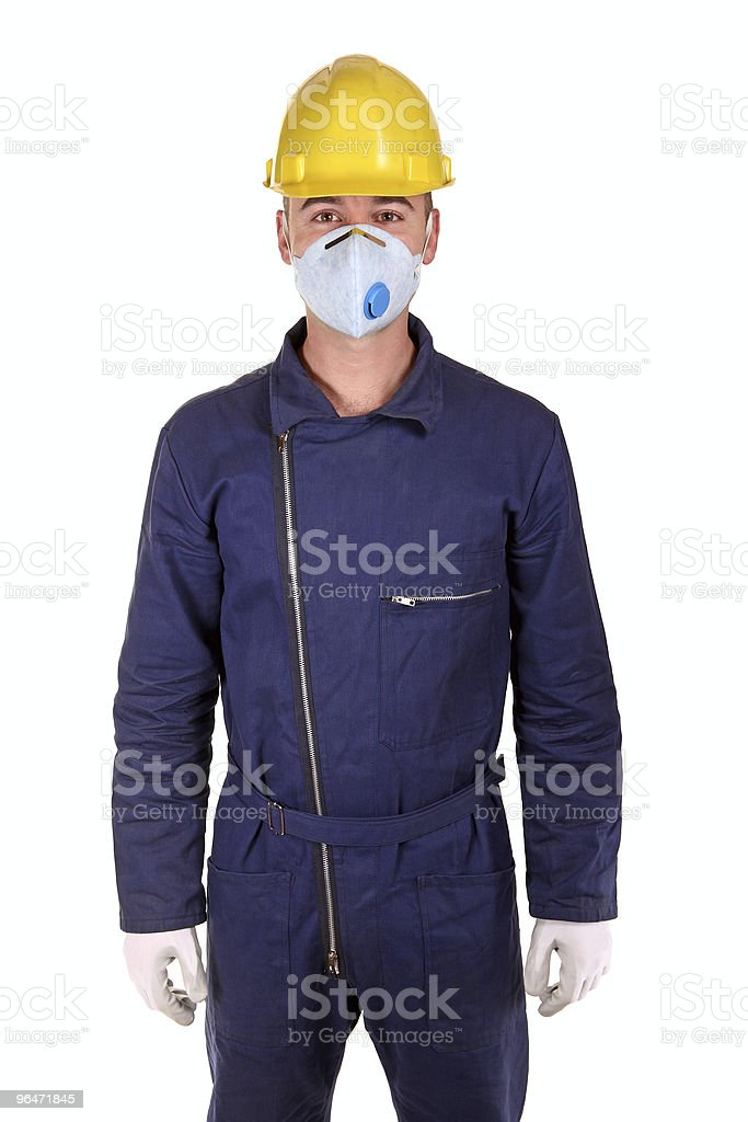 caucasian worker with protection clothes royalty-free stock photo