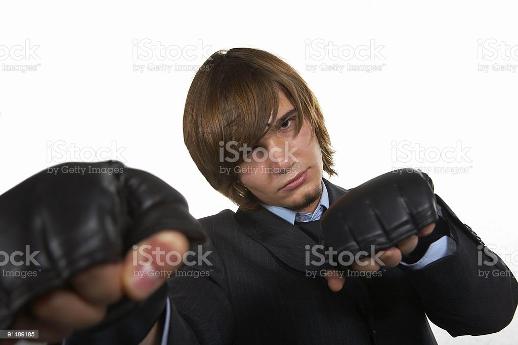 Caucasian young businessman stock photo