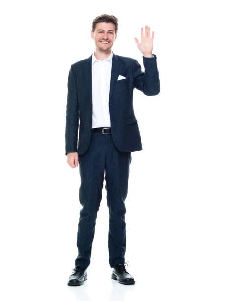Kaukasier junge männliche Manager stehen tragen smart casual – Foto