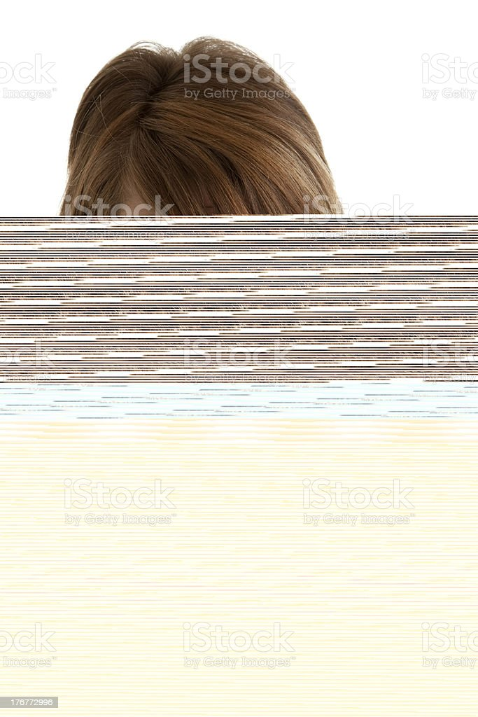 Caucasion Teenage Girl with Piercing and Blank Expression Closeup Headshot royalty-free stock photo