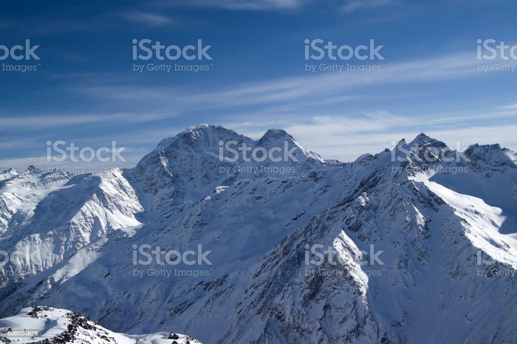 Caucasus Mountains. Donguzorun. royalty free stockfoto