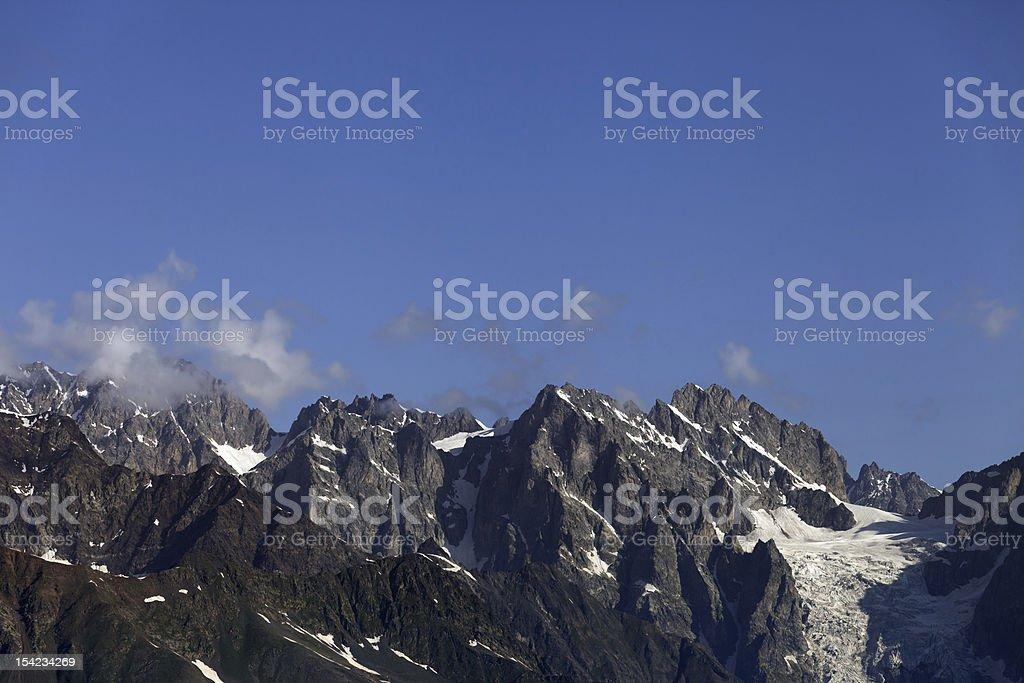 Caucasus Mountains. Georgia, Svaneti royalty-free stock photo