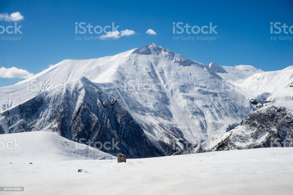 Caucasus Mountains in Georgia stock photo