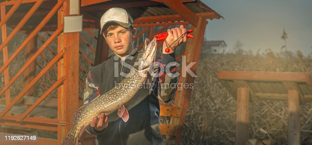 Caught a large pike on spinning.
