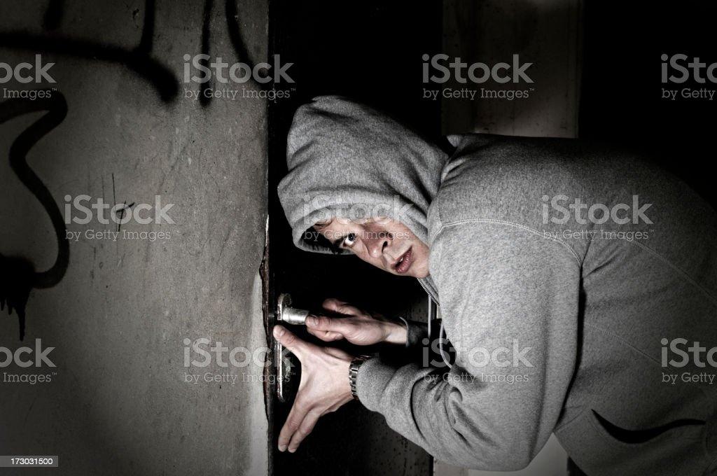 caught burglar royalty-free stock photo