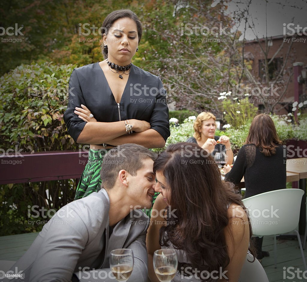 Caught cheating stock photo