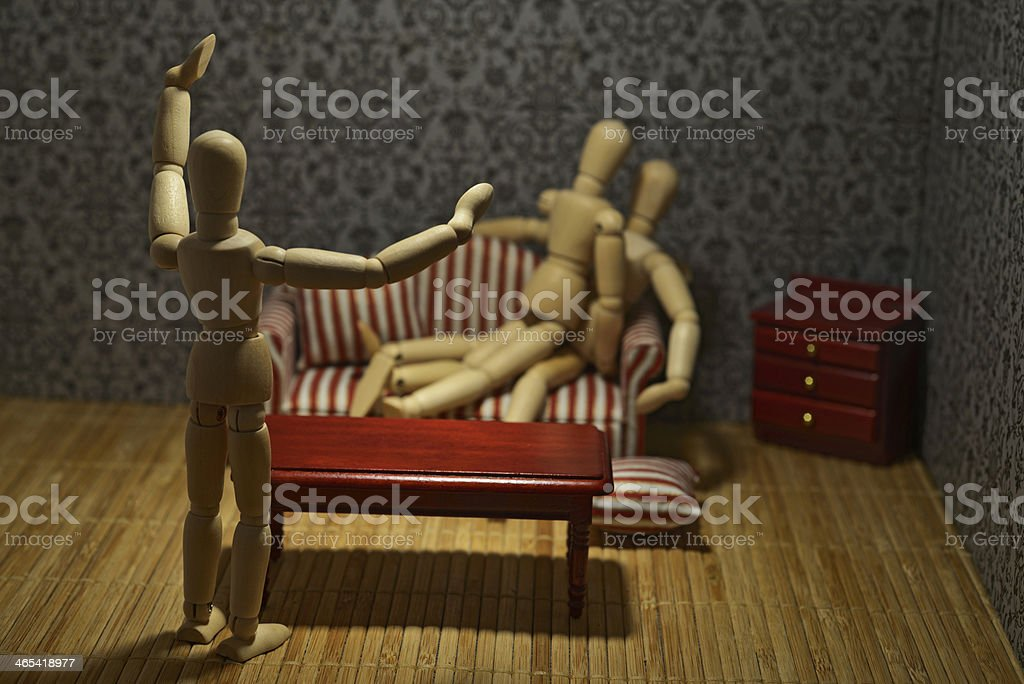 Caught in adultery royalty-free stock photo
