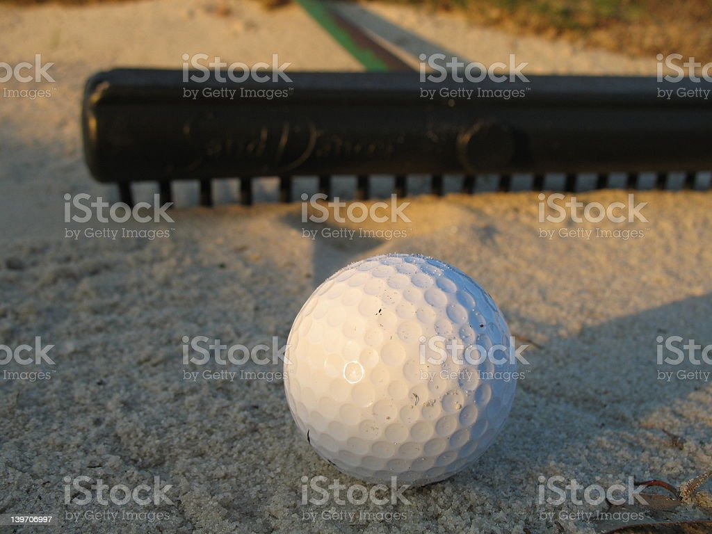 Caught in the Sand Trap royalty-free stock photo