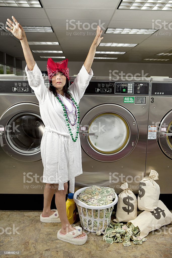 Caught Laundering Money stock photo