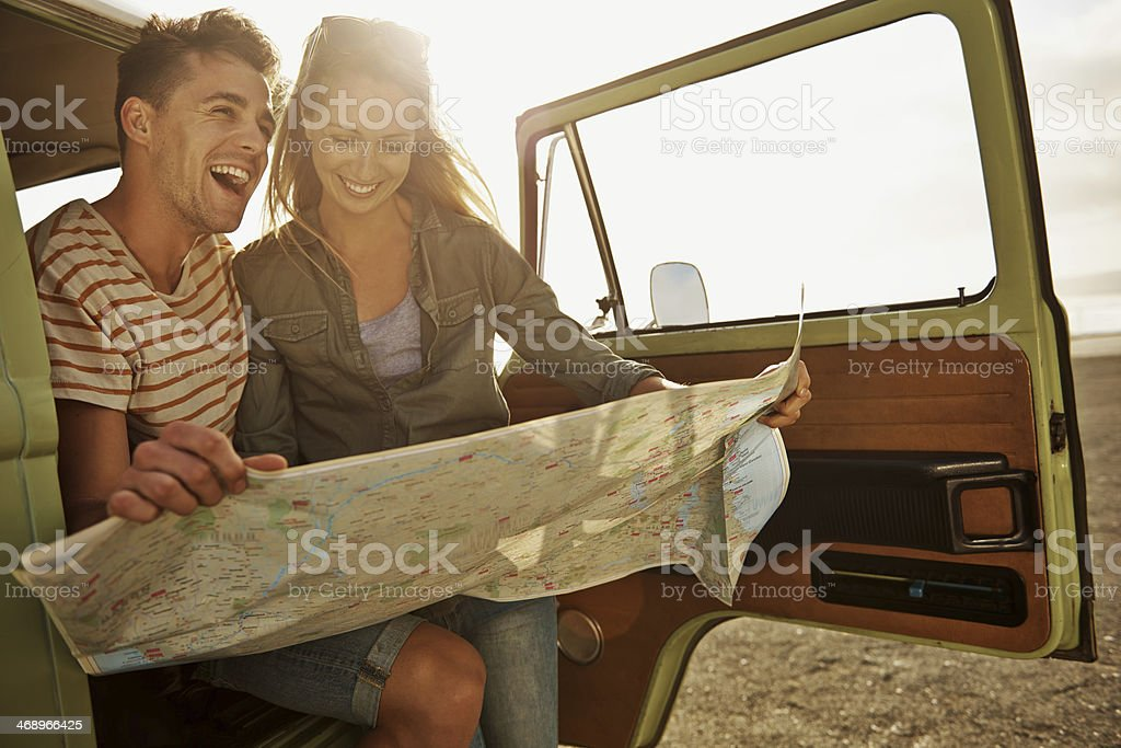 Caught up in a spirit of adventure stock photo