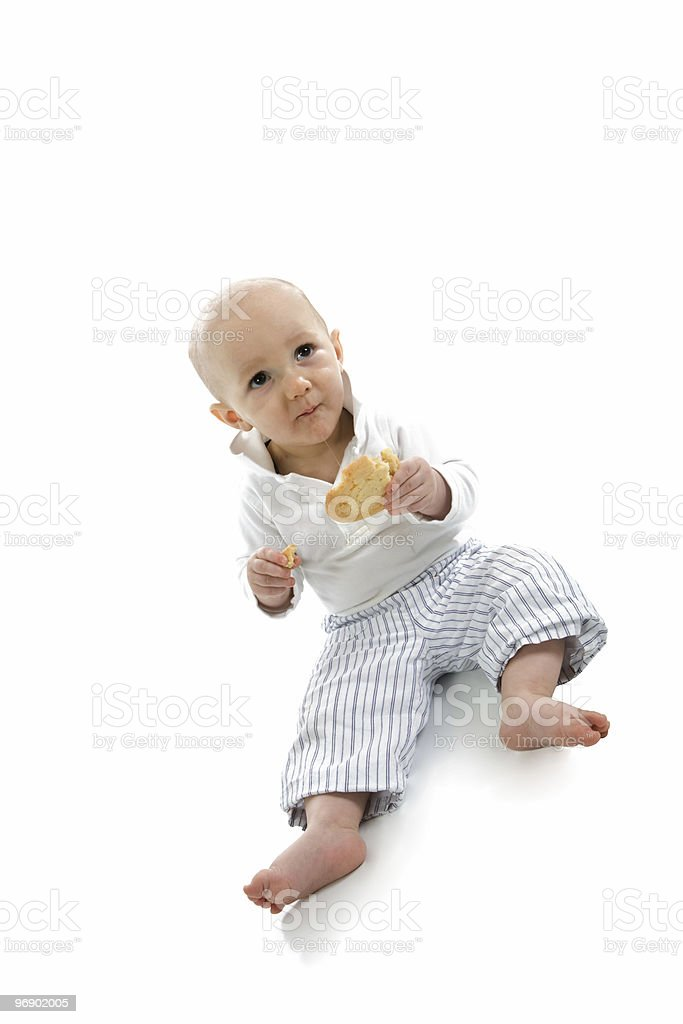 Caught with a Cookie royalty-free stock photo