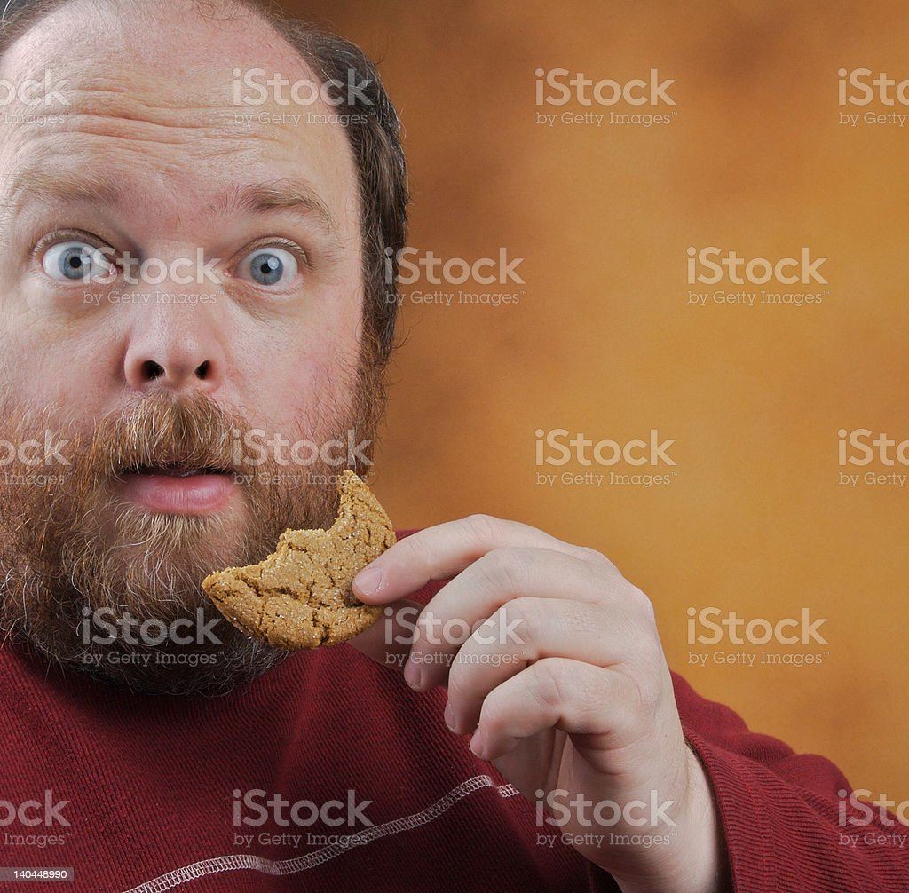 Caught with cookie royalty-free stock photo