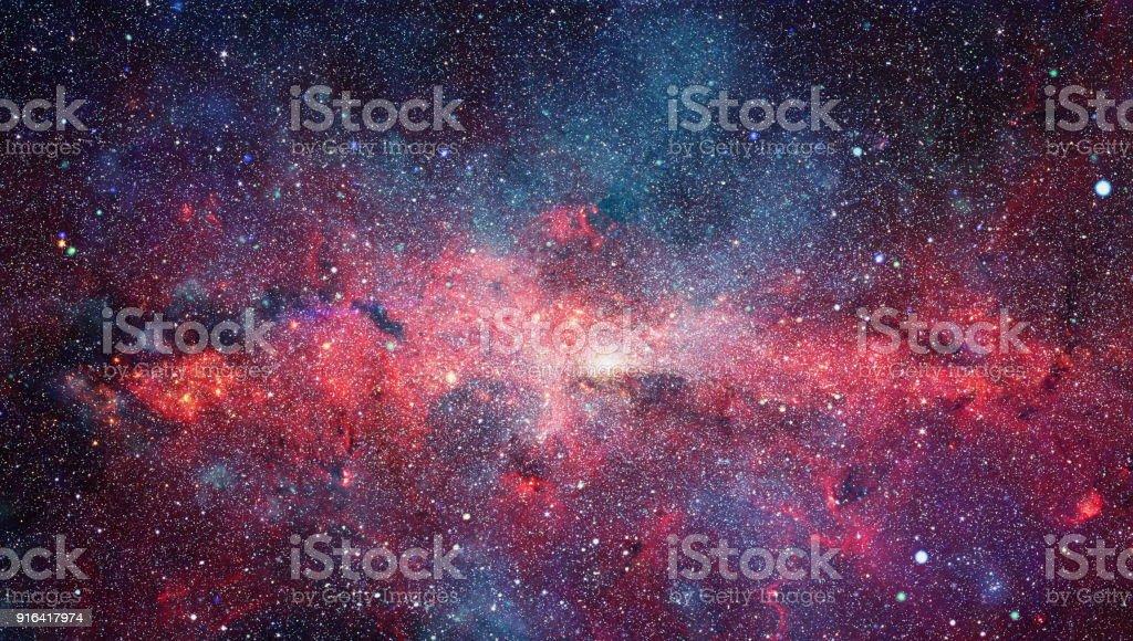 Caldero de estrellas en la galaxia Center.Elements de esta imagen proporcionada por la NASA - foto de stock