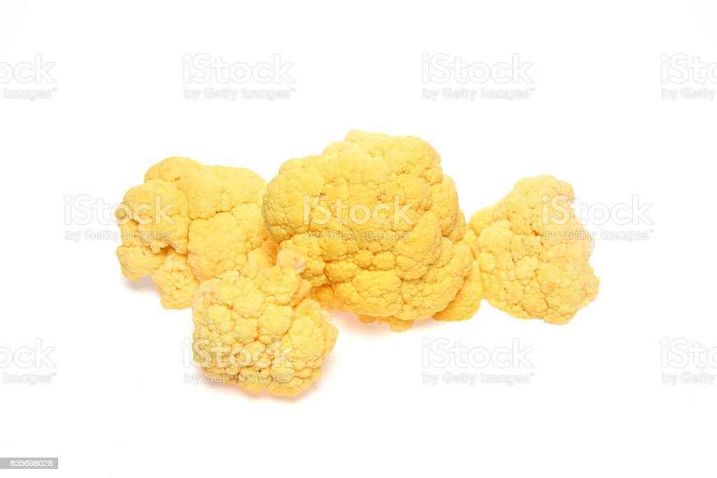 Cauliflower in a white background royalty-free stock photo
