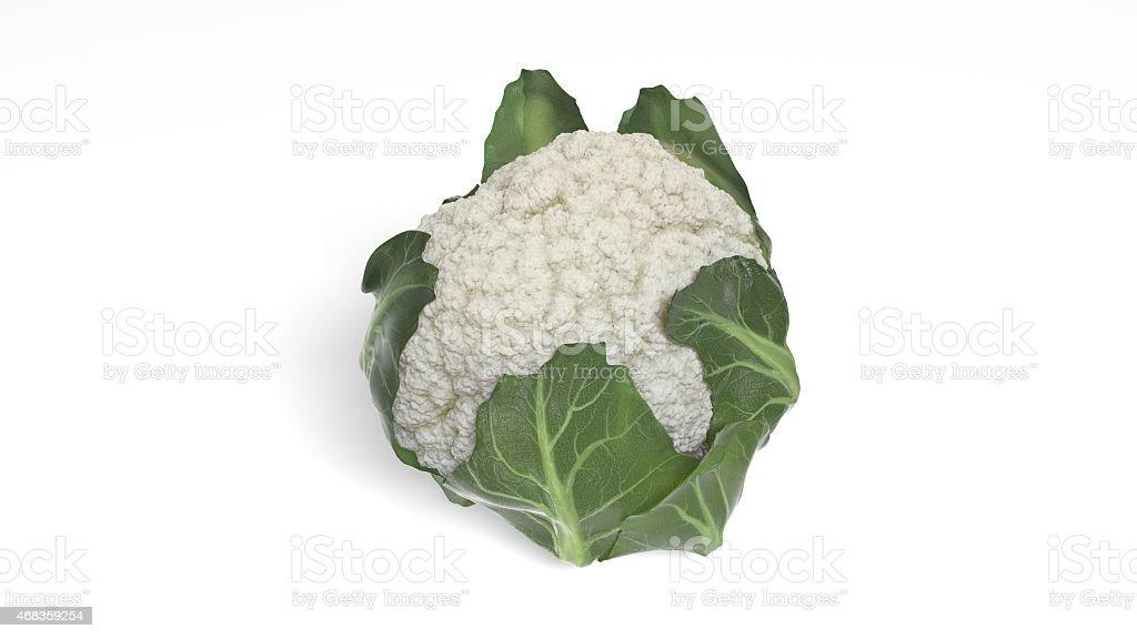 Cauliflower isolated on white background royalty-free stock photo